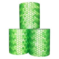 Viewm Green Reflective Tape Night Reflective Safety Sticker Warning Tape, 2 inches × 3.28 yard, 5 cm × 3.0 m, 3 Rolls
