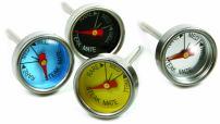 Norpro 5984 Mini Steak Thermometers, Set of 4, Silver