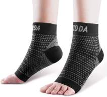AVIDDA Plantar Fasciitis Socks 2 Pairs - Ankle Brace Compression Foot Sleeves for Women Men, Foot Support for Achilles Tendon Support Sprained Ankle Swelling Flat Feet Black XLarge