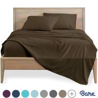 Bare Home Twin XL Sheet Set - College Dorm Size - Premium 1800 Ultra-Soft Microfiber Sheets Twin Extra Long - Double Brushed - Hypoallergenic - Wrinkle Resistant (Twin XL, Cocoa)