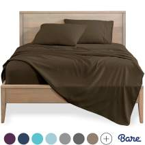 Bare Home King Sheet Set - 1800 Ultra-Soft Microfiber Bed Sheets - Double Brushed Breathable Bedding - Hypoallergenic – Wrinkle Resistant - Deep Pocket (King, Cocoa)