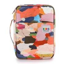 BTSKY Colored Pencil Case 220 Slots Pen Pencil Bag Organizer with Handy Wrap Portable- Multilayer Holder for Prismacolor Crayola Colored Pencils & Gel Pen Cloth Art
