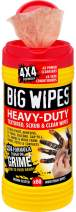 """Big Wipes 60020046""""Red Top"""" Heavy Duty Industrial Textured Scrubbing Wipes, 80 Count"""