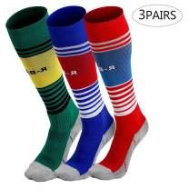 TERODACO Boys Girls Soccer Socks Sports Team Compression Stockings 2/3/5/6 pack