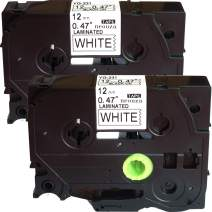 NEOUZA 2PK Black on White Label Tape Compatible for Brother TZ TZe 231 TZ-231 TZe-231 P-Touch 12mm Width 8m Length (0.47 inch 26.2 ft.) Cassette