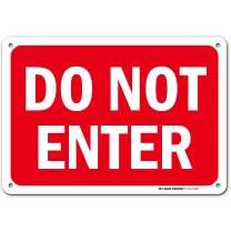"""Caution Do Not Enter Sign, Made Out of .040 Rust-Free Aluminum, Indoor/Outdoor Use, UV Protected and Fade-Resistant, 7"""" x 10"""", by My Sign Center"""