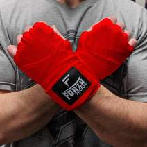 """Forza Sports 180"""" Mexican Style Boxing and MMA Handwraps - Red"""