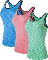 jeansian Women's 3 Packs Sport Quick Dry Base Layer Vests Tank Top SWT237