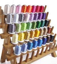 1000 Meters Huge Spool Polyester Embroidery Machine Thread Different Colors Set (40 Colors) for Janome Brother Pfaff Babylock Singer Bernina Husqvaran Kenmore Machines