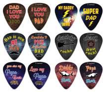 Creanoso Dad Love You 3000 Guitar Picks (12-Pack) - Premium Music Gifts & Guitar Accessories for Husband Dad Boys Son Men Him Boyfriend Musician Gift – Medium Gauge Celluloid – Best Dad Gifts