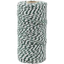 Just Artifacts ECO Bakers Twine 110-Yards 12Ply Striped Forest Green - Decorative Bakers Twine for DIY Crafts and Gift Wrapping