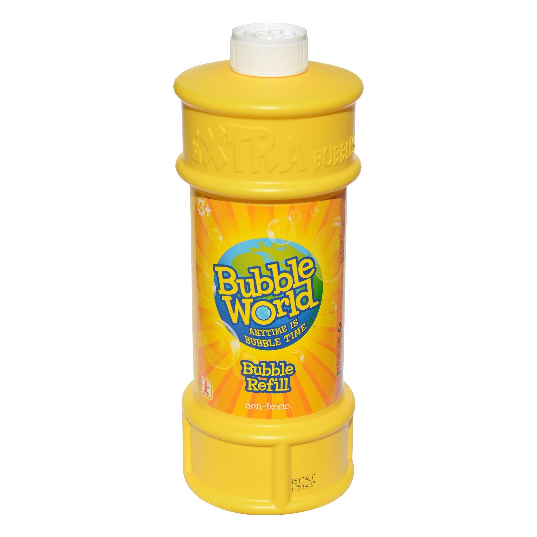 Bubble World Refill Bottle - 33.81 fl. oz. of Bubble Solution for Kids Bubbles