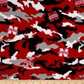 Sykel Enterprises Camouflage Collegiate Cotton Broadcloth The University of Nebraska Fabric by The Yard