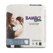 Bambo Nature Eco Friendly Premium Training Pants for Sensitive Skin, Size 5 (26-44 lbs), 20 Count