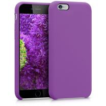 kwmobile TPU Silicone Case Compatible with Apple iPhone 6 / 6S - Soft Flexible Rubber Protective Cover - Pastel Purple