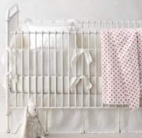 Baby Blanket Unisex, Baby Blanket Soft, Baby Blanket Plush, Toddler Blanket for Crib, Organic Cotton Baby Blanket, Flannel Blanket Baby, 60x60 Blanket, Pink Dot Blanket