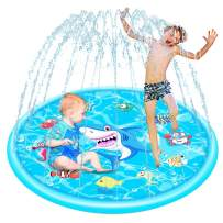 Autbye Kid Splash Pad Thickened PVC Sprinkler Pool Eco-Friendly Material Baby Splash Pool Backyard Children Summer Play Garden Lawn Outdoor Toys for Age 1 to Age 12 Sprinkle & Splash Play Mat