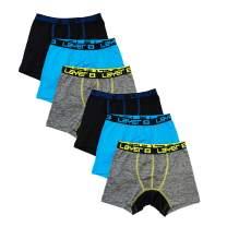 Layer 8 Men's 6-Pack Big Boys Underwear Performance Sports Boxer Briefs