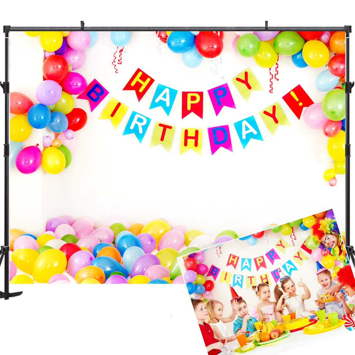 Kate 10x6.5ft 1st Birthday Backdrop Birthday Theme Party Decorations Background