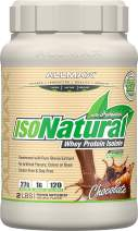ALLMAX Nutrition Isonatural Whey Protein Isolate, Chocolate, 2 lbs