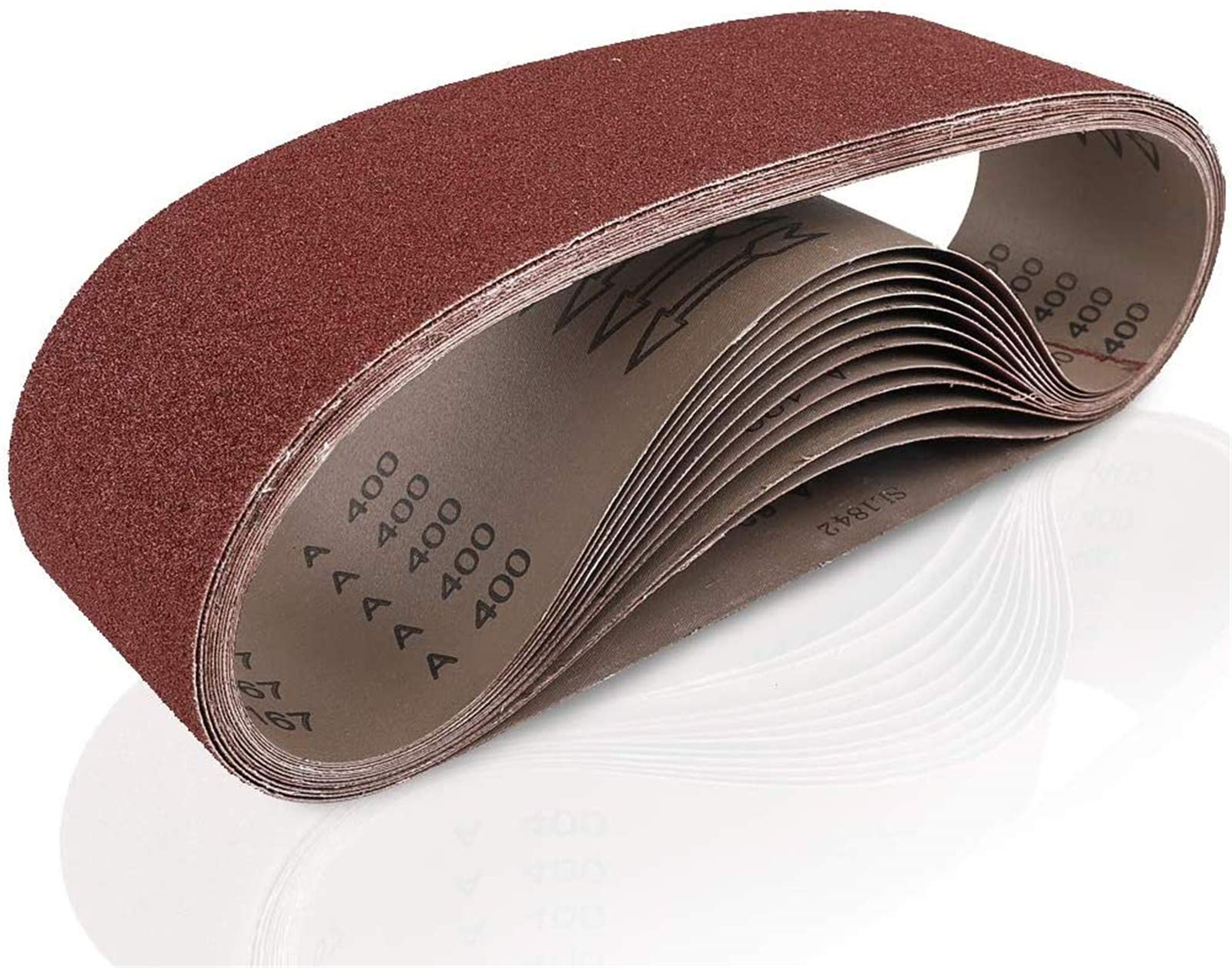 Coceca, 12 Pack 4x36 Inches (100x915mm) Sanding Belts (2 Each of 60 80 120 180 240 400 Grits) for Belt Sander