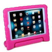 HDE Kids Case for iPad Mini 2 3 -Shock Proof Rugged Heavy Duty Impact Resistant Protective Cover Handle Stand for Apple iPad Mini 1 2 3 Retina (Hot Pink)