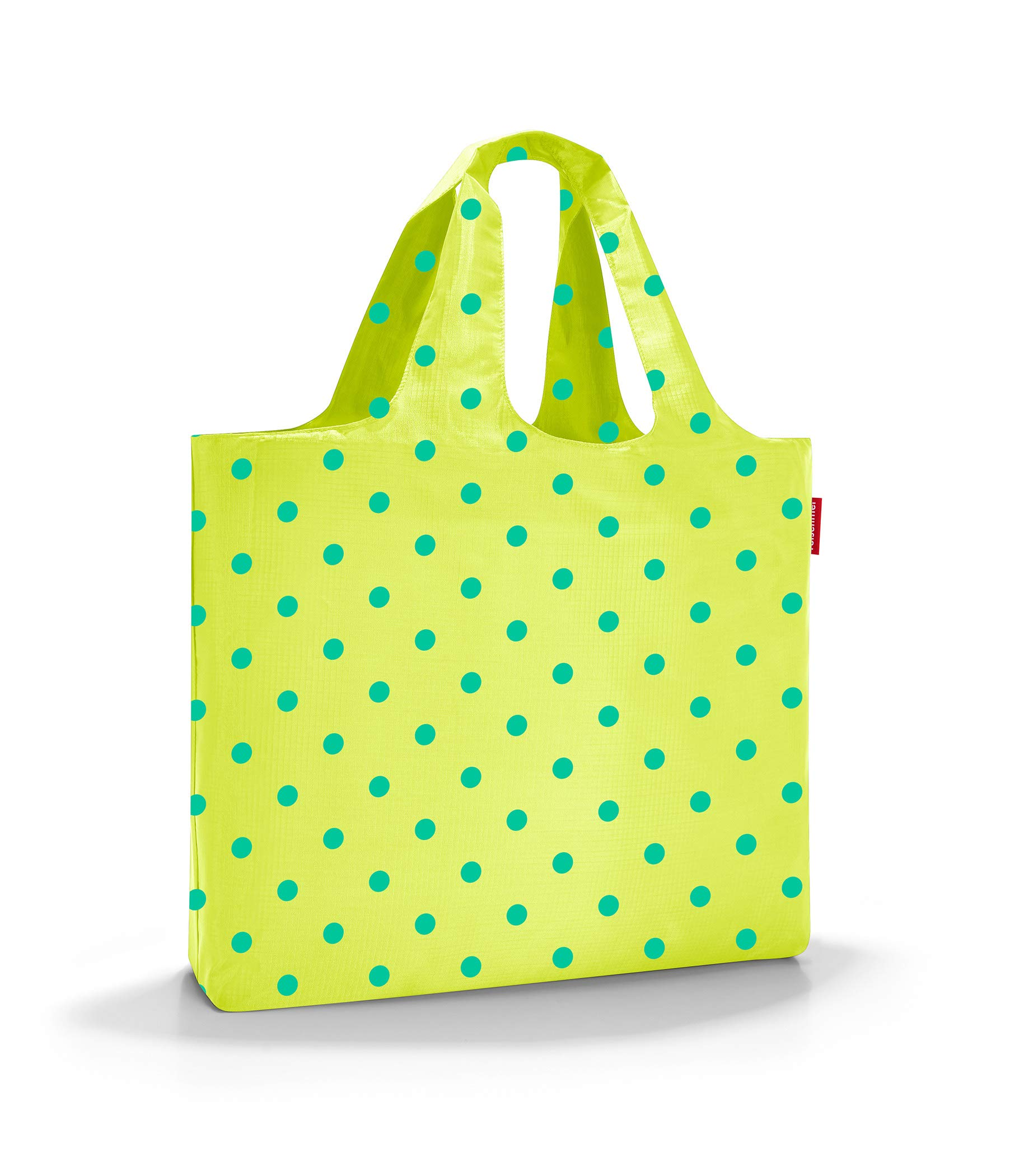 reisenthel Mini Maxi Beachbag, Foldable and Spacious Lightweight Tote Bag with Zippered Pouch, Water-repellent, Lemon Dots