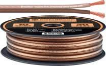 InstallGear 10 Gauge Speaker Wire - 99.9% Oxygen-Free Copper (OFC) - Neutral (50-feet)