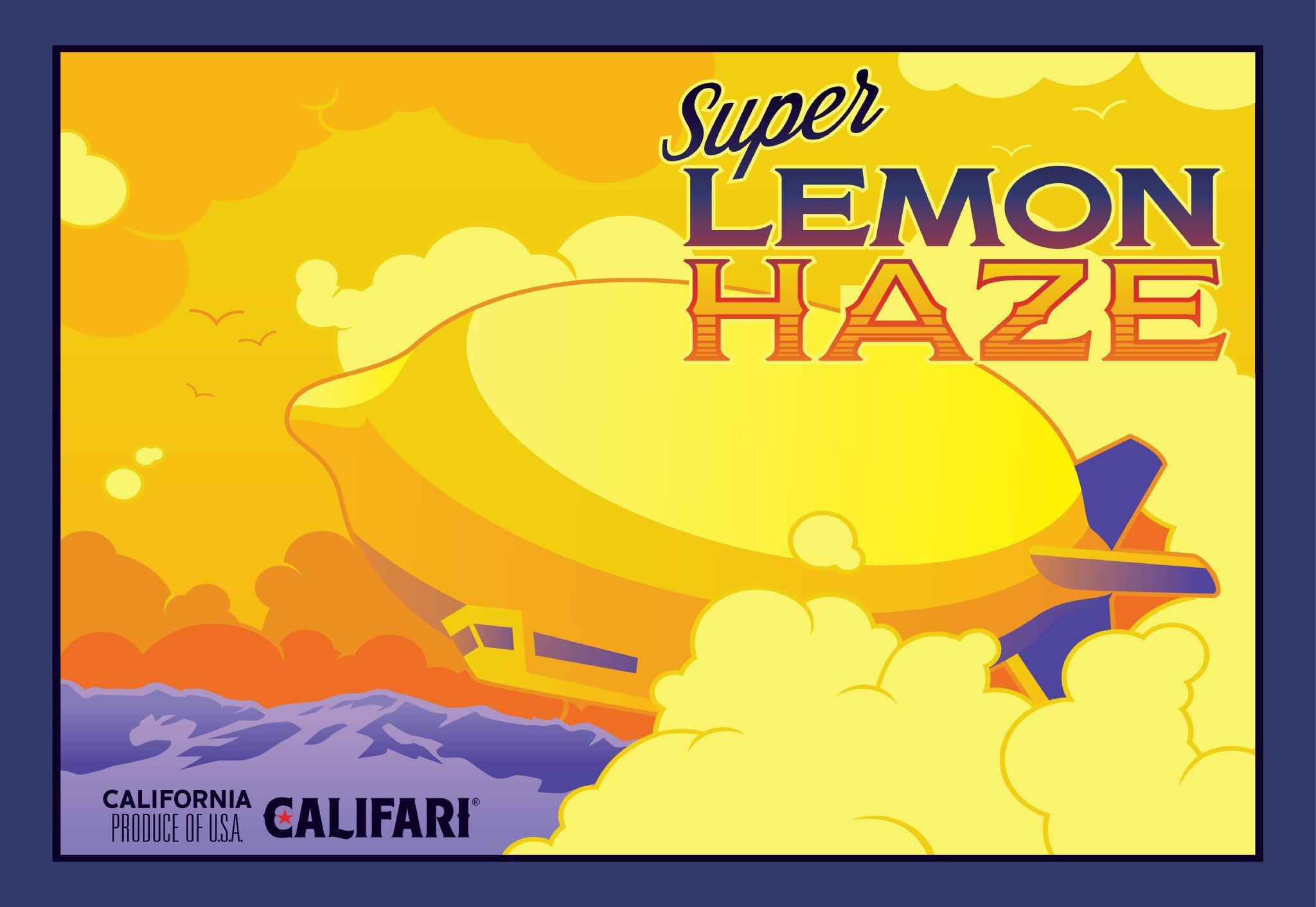 "Califari Super Lemon Haze - Vivid Color Weed Poster, Cannabis Art, Marijuana Decor for a House, Dorm, Cannabis Dispensary, Store, or Shop - 13"" x 19"" Lithograph Print"