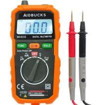 AIDBUCKS MS8232 Auto-Ranging Pocket-Sized Digital Multimeter Non-Contact Voltage (NCV) Test-Function Beginner-Level Measuring Instrument AC/DC Amp Volt Ohm Diode