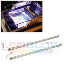 "LEDGlow 2pc White LED Boat Marine Deck Under Gunnel & Cabin Accent Lighting Kit - 24"" Waterproof Light Tubes - Screw Cap Connectors with O-Rings"
