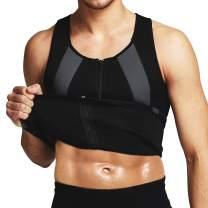 Yevohadt Men Sweat Vest Neoprene Sauna Waist Trainer Vest Body Shaper Compression Shirt Slimming Workout Tank Top
