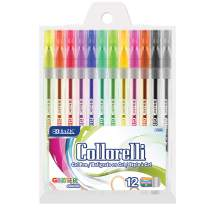 BAZIC 12 Glitter Color Collorelli Gel Pen, Non-Toxic Safe Coloring, Great for Gift Card Poster Christmas Artist