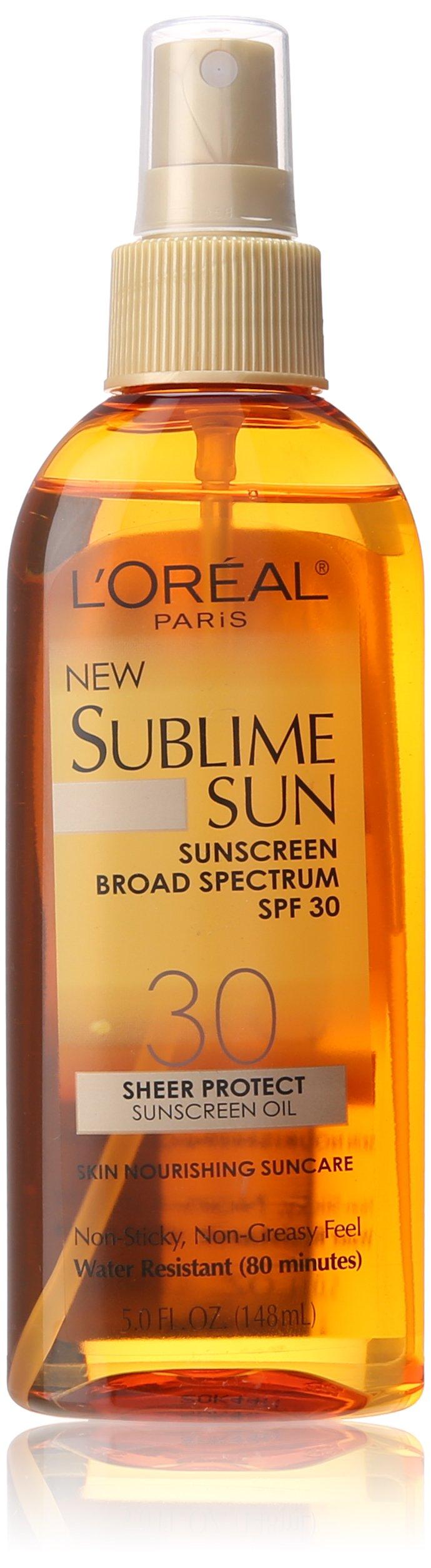 L'Oreal Paris Sublime Sun Sheer Protect SPF 30 Oil Spray, 5.0 Fluid Ounce