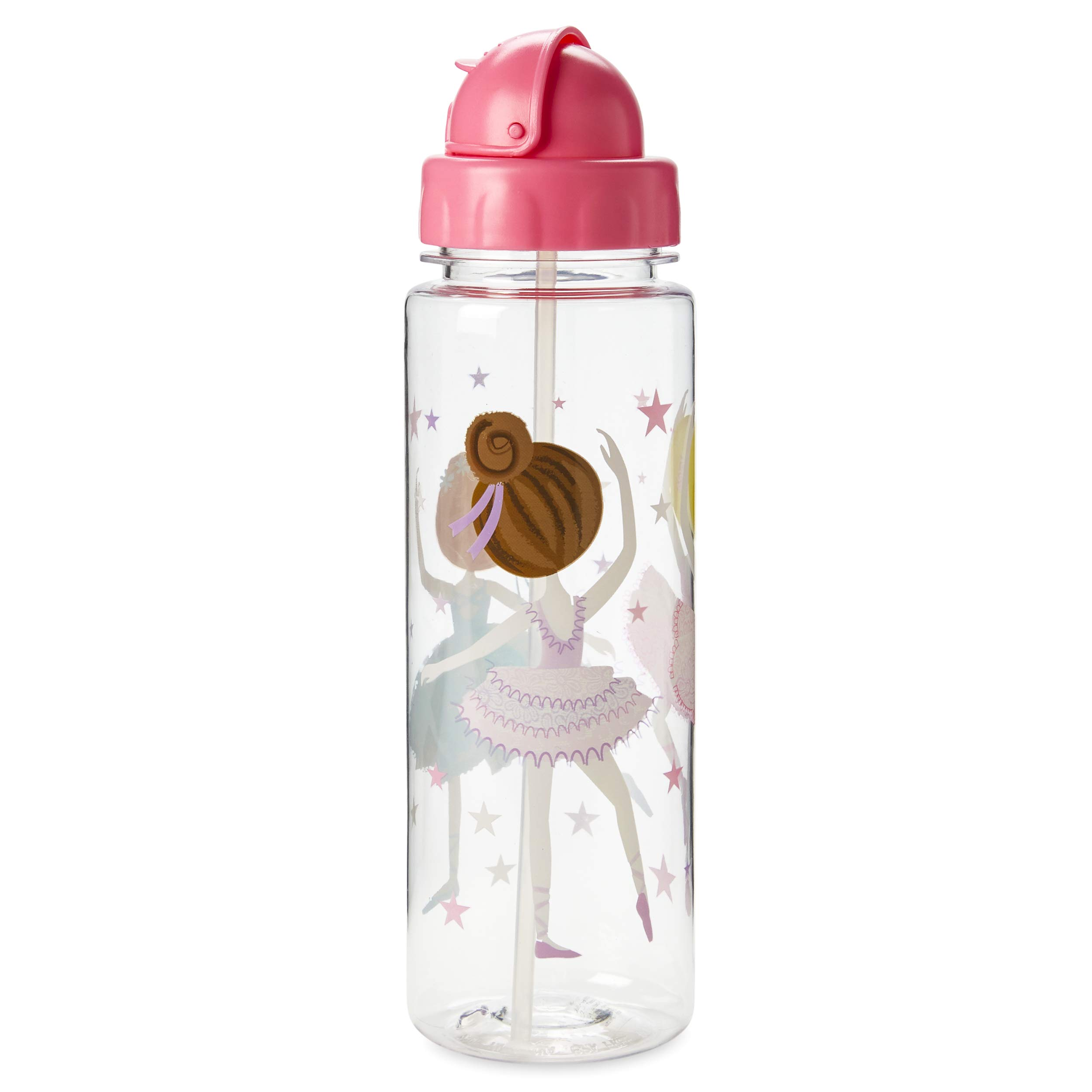 Tri-Coastal Design Themed Water Bottle with Lid & Spill-Proof Flip-Top Straw – Tall Reusable Shatterproof Hydration Drinking Tumbler - BPA Free Dishwasher Safe Cup