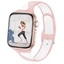 Bandiction Sport Band Compatible for Apple Watch Bands 38mm 40mm, Soft Silicone Smartwatch Bands for iWatch Bands Women Men Watch Strap Compatible for Apple Watch Series 6/SE/5/4/3/2/1, Sport Edition