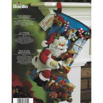 Bucilla The Workshop Christmas Stocking Felt Applique Kit, 18-Inch