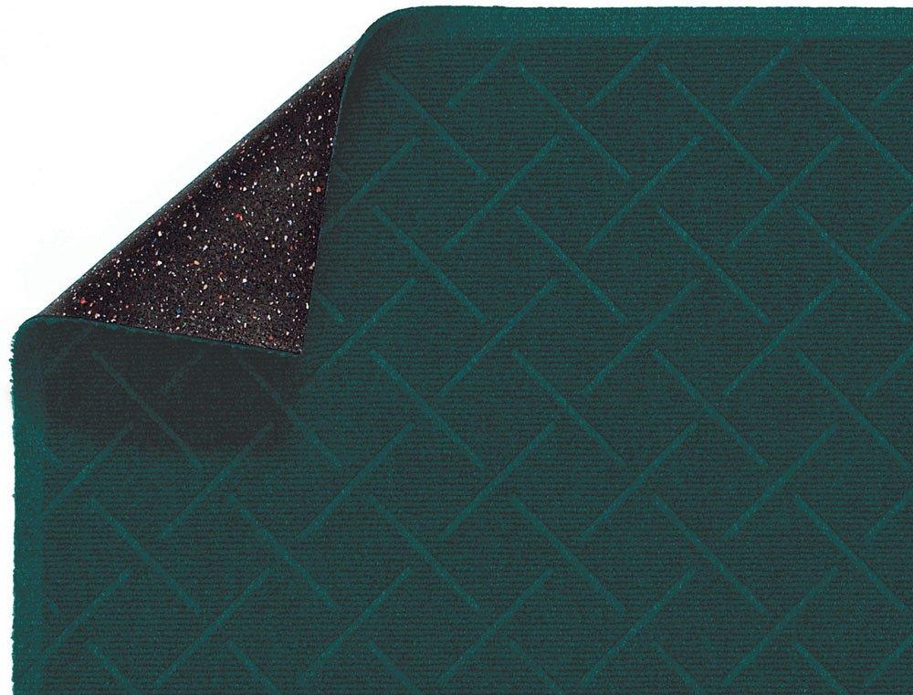 "M+A Matting 2202 Enviro Plus PET Polyester Fiber Diamond Weave Interior/Wiper Floor Mat, Crumb Rubber Backing, 3' Length x 2' Width, 1/4"" Thick, Southern Pine"