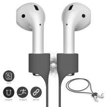 FONY Airpods Strap Magnetic Anti-Lost Cord Sport String Silicone Leash Cable Connector – Accessories for Airpods Pro/2/1 (5 Packs Grey)
