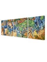 DECORARTS - Tree Roots (3 Piece Set), Vincent Van Gogh Art Reproduction. Giclee Canvas Prints Wall Art for Home Decor. 24x30, 3pcs/Set