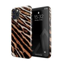 BURGA Phone Case Compatible with iPhone 11 PRO - Golden Wildcat Savage Wild Tiger Fur Pattern Leopard Cheetha Cute Case for Women Thin Design Durable Hard Plastic Protective Case