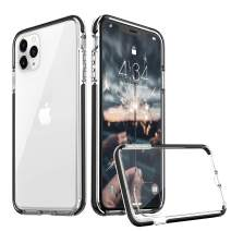 abitku Designed Thin Transparent iPhone 11 Pro 5.8 Inch Case Clear Phone Cover Protective Slim Fit Shockproof Bumper [Anti-Scratch] [Anti-Yellow] Compatible iPhone 11 Pro Phone Cases 2019 (Black)