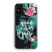 iPhone Xs/X Case Girls Florals Flowers Blooms Daisy Good Vibes Love Summer Tropical Beach Love Vintage Roses Classy Whimsical Women Cute Case Girls Clear Soft Case Compatible for iPhone Xs/X