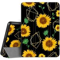 Hepix iPad 8th / 7th Generation Case Sunflower iPad 10.2 Case with Pencil Holder 2020 2019, Floral Flower Trifold Protective Shockproof Cover Auto Sleep Wake for A2270 A2428 A2429 A2197 A2198 A2200