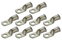 """TEMCO 10 Pack Tinned Copper Welding Battery Cable Ends, Lugs Terminal 1/0 AWG 3/8"""" Hole - Marine Grade (6 AWG to 4/0 AWG Options Available)"""