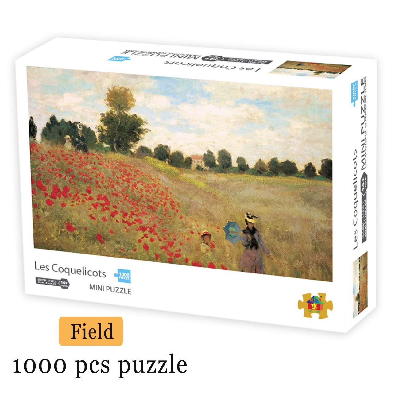 LZZTU Jigsaw Puzzle for Adults, 1000 Piece Educational Intellectual Decompressing Game, Family Game Time DIY Home Decor Wall Decor Puzzle 16.5x11.7 Inch, Field