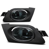 Replacement for Honda Civic Driving Bumper Fog Light+Bulbs+Switch (Smoke Lens) - 7th Generation ES EM D17