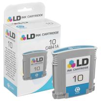 LD Remanufactured Ink Cartridge Replacement for HP 10 C4841A (Cyan)