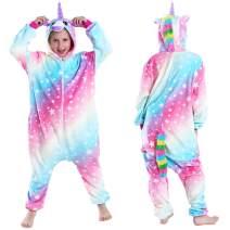 Unicorn Onesies for Girls Pajamas Hooded Kids Costume Soft Onsies Halloween Pajamas Unicorn Gifts for Girls