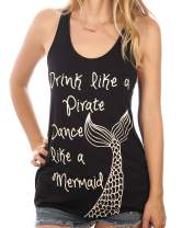 Shop Delfina Drink Like A Pirate Dance Like A Mermaid Nautical Summer Womens Top
